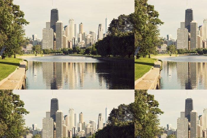 Tapeta Pixerstick Downtown Chicago pohled z Lincoln Park - Jiné