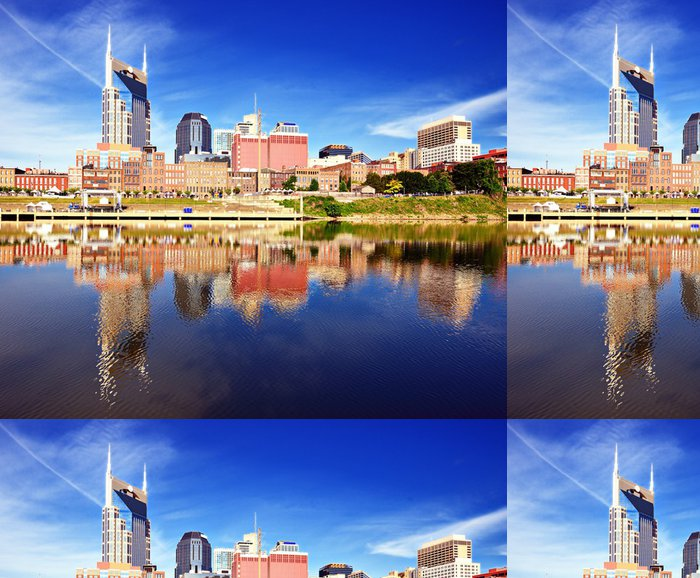 Tapeta Pixerstick Downtown Nashville - Amerika