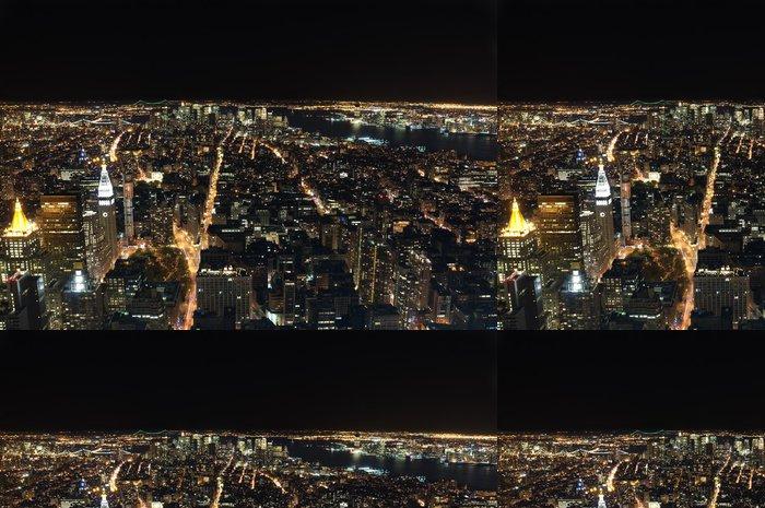 Tapeta Pixerstick Downtown New York v noci - Americká města