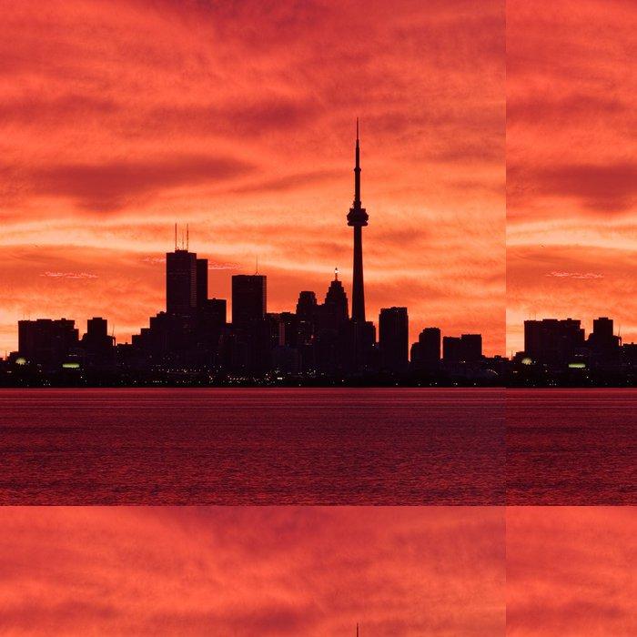 Tapeta Pixerstick Downtown Toronto probouzí k ohnivé nebe - Amerika