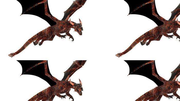 Tapeta Pixerstick Dragon - Imaginární zvířata