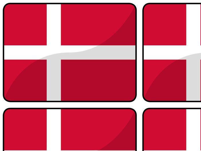Tapeta Pixerstick Drapeau Dánsko dánsko vlajka - Evropa