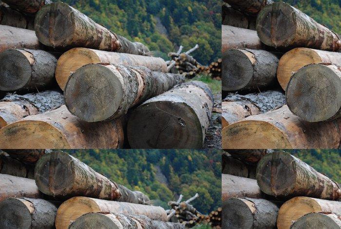 Tapeta Pixerstick Dřevěné kulatiny - Stromy