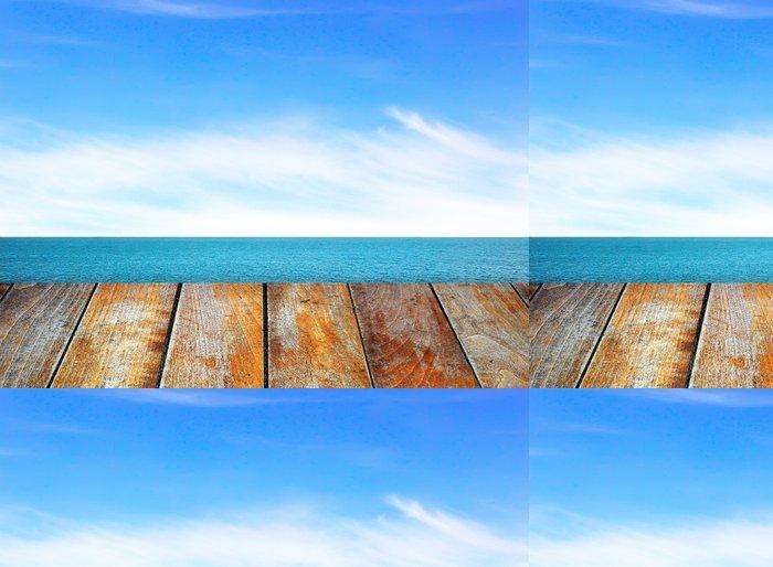 Tapeta Pixerstick Dřevěné lůžko - Roční období