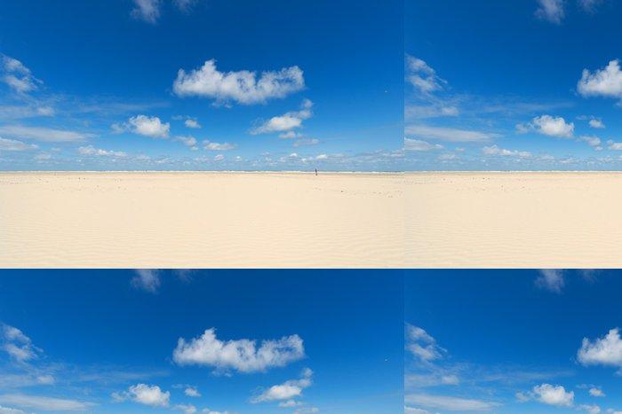 Tapeta Pixerstick Dřevěný kůl na pláži - Prázdniny