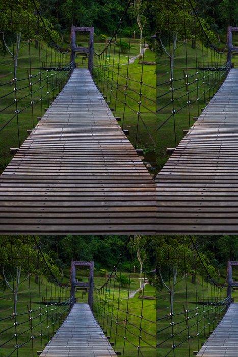 Tapeta Pixerstick Dřevěný most - Příroda a divočina