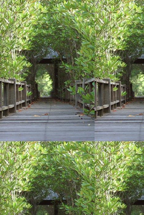 Tapeta Pixerstick Dřevěných desek podél potoků - Lesy