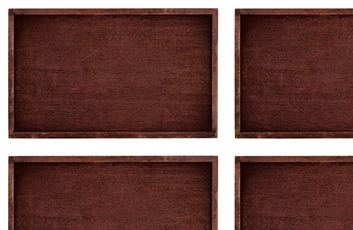 Tapeta Pixerstick Dřevo hnědé deska izolovat na bílém pozadí - Pozadí
