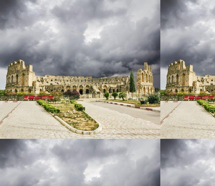 Tapeta Pixerstick Druhy římského amfiteátru ve městě El Jem v Tunisku - Témata