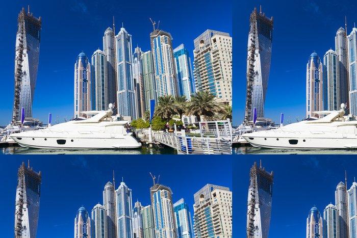 Tapeta Pixerstick Dubaj marina - Střední Východ