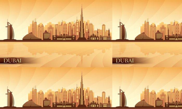 Tapeta Pixerstick Dubaj panorama města - Asie
