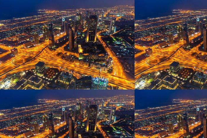 Vinylová Tapeta Dubaj panorama za soumraku - Asie
