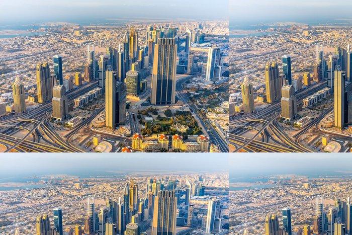 Tapeta Pixerstick Dubaj panorama za soumraku - Témata