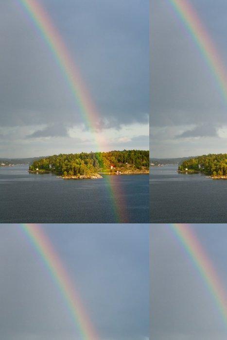 Vinylová Tapeta Duha v dešti během slunečního svitu v Baltském moři - Nebe