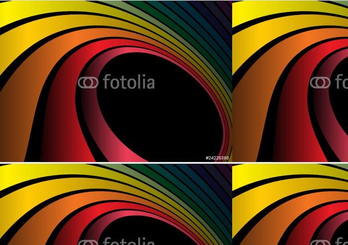 Tapeta Pixerstick Duha vektor pozadí kruhový ilustrace - Pozadí