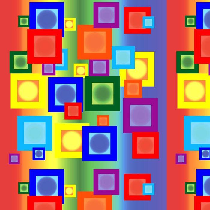 Tapeta Pixerstick Duhové čtverce - Pozadí
