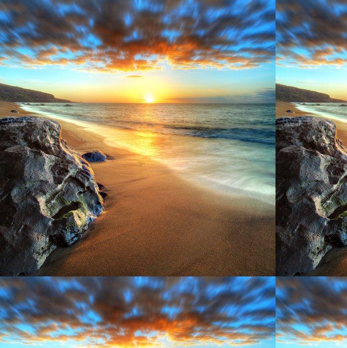Vinylová Tapeta Dusk na plážích na západě, Réunion. - Prázdniny