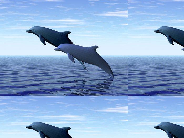 Vinylová Tapeta Dva delfíni - Témata