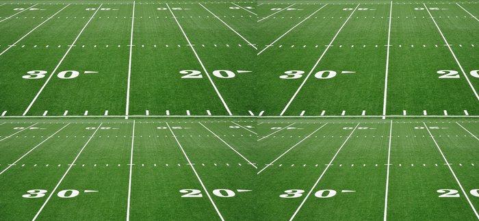Tapeta Pixerstick Dvacet třicet linka yardu na americký fotbal pole - Týmové sporty