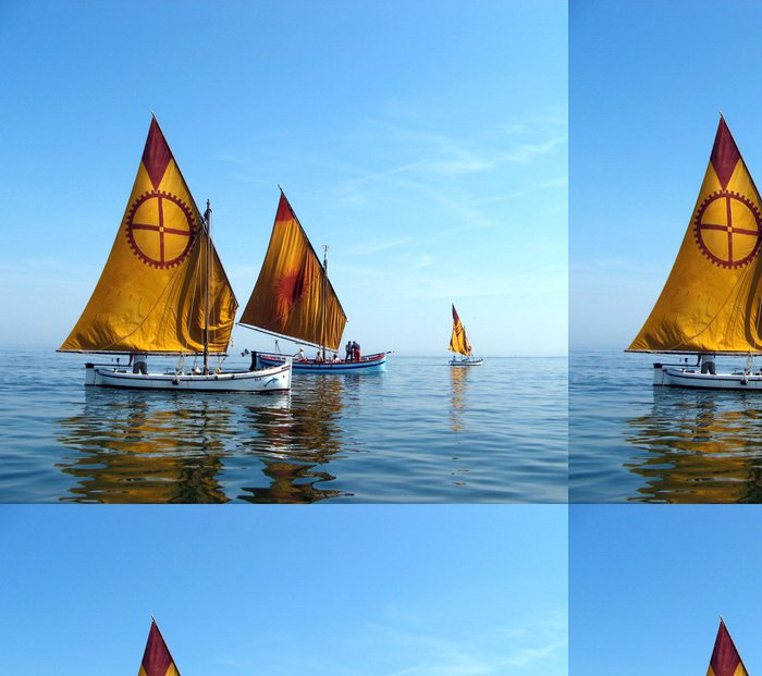 Tapeta Pixerstick Dvě restaurované lodě - Vodní sporty