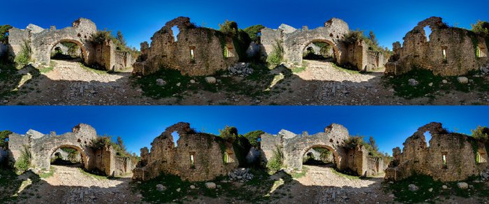 Tapeta Pixerstick Dvigrad Istra Panoramatický 360 - Evropa