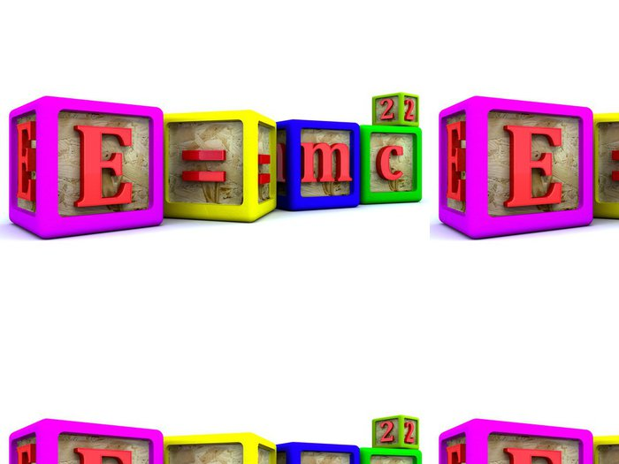 Vinylová Tapeta E = mc2 - Aplikované a přírodní vědy