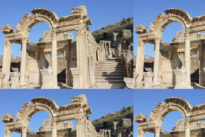 Tapeta Pixerstick Efes Antik Kent - Kapı - Jiné