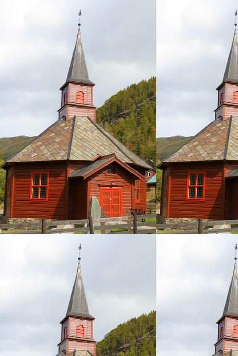 Tapeta Pixerstick Eglise en bois - Evropa
