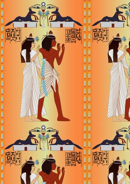 Tapeta Pixerstick Egyptský - freska - Afrika