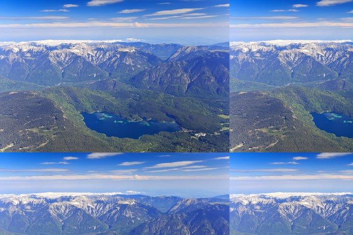 Tapeta Pixerstick Eibsee jezero pohled z Zugspitze horní části Německa - Hory