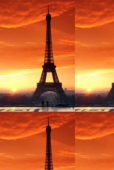 Vinylová Tapeta Eiffelova věž a Trocadéro promenáda - Témata