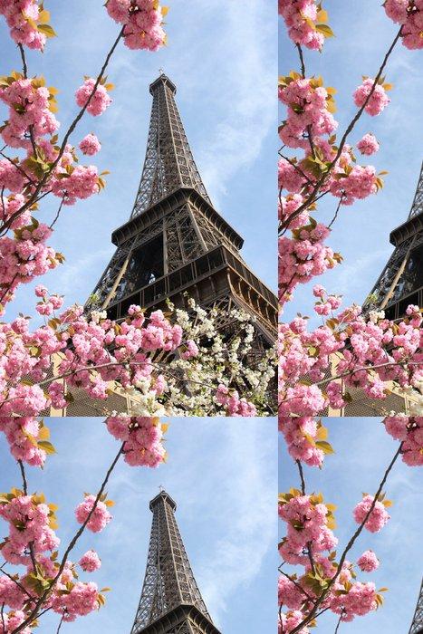 Tapeta Pixerstick Eiffelova věž během jara v Paříži, Francie - Evropská města