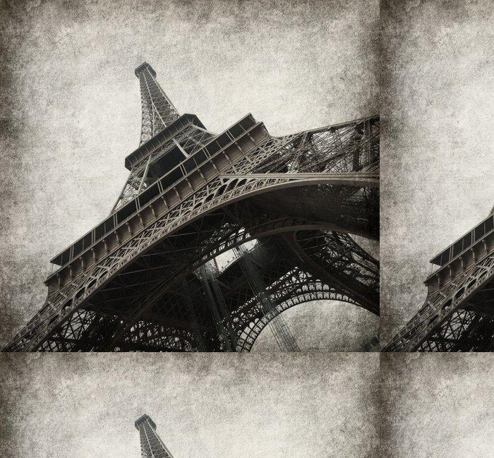 Tapeta Pixerstick Eiffelova věž. Foto ve stylu grunge. textura papíru. - Témata