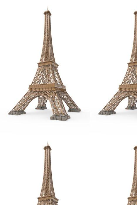 Tapeta Pixerstick Eiffelova věž izolovaných na bílém pozadí - Evropská města
