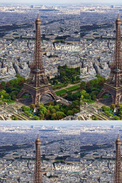 Tapeta Pixerstick Eiffelova věž letecký pohled 1 - Evropská města