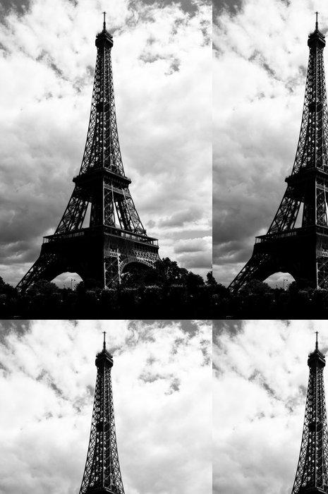 Tapeta Pixerstick Eiffelova věž - pohled od řeky Seiny - Evropská města