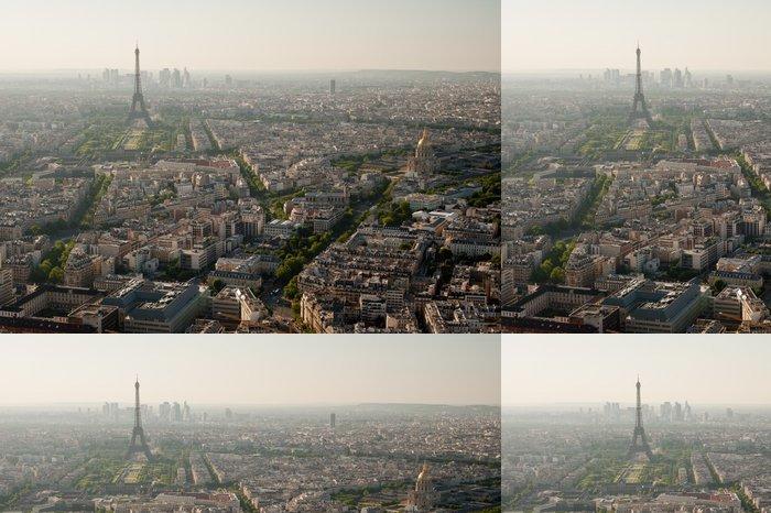 Tapeta Pixerstick Eiffelova věž pohled z Paříže od věže Montparnasse - Francie - Evropská města