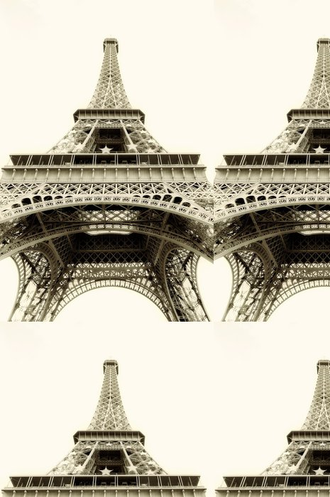 Tapeta Pixerstick Eiffelova věž, samostatný - sépie tónovaný - Evropská města