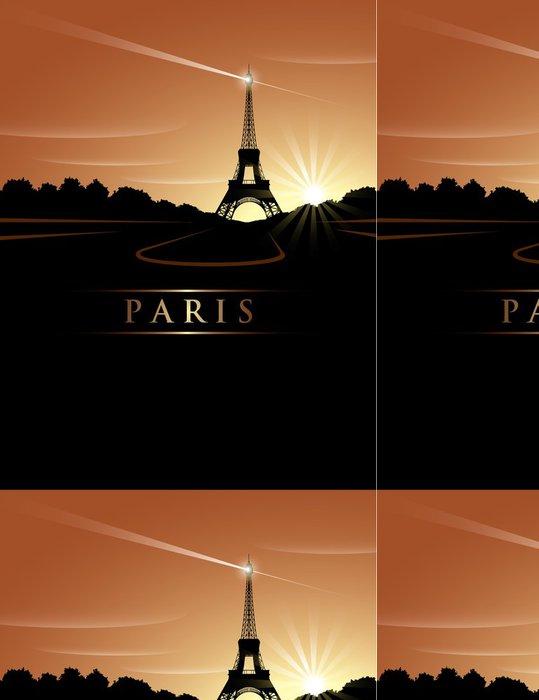 Tapeta Pixerstick Eiffelova věž západ slunce - Evropská města