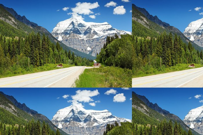 Tapeta Pixerstick Einfahrt zum Mount Robson Park - Amerika