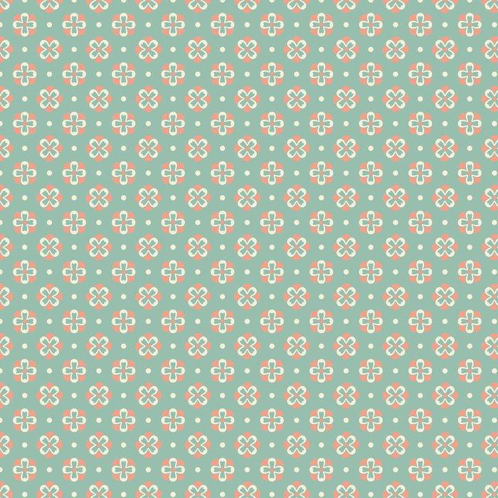 Tapeta Pixerstick Elegantní romantické vector seamless pattern (obklady). Retro růžové - Pozadí