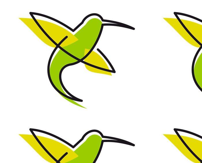 Tapeta Pixerstick Elegantní zelený kolibřík - Ptáci