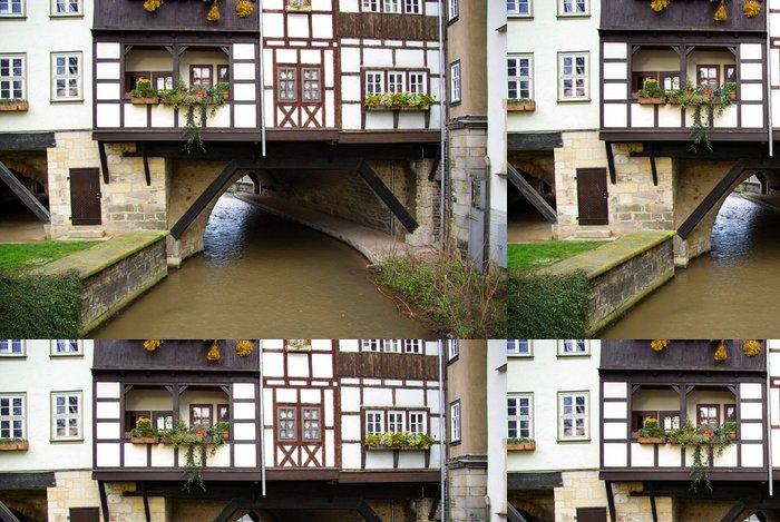 Vinylová Tapeta Erfurt Krämerbrücke 01 - Evropa