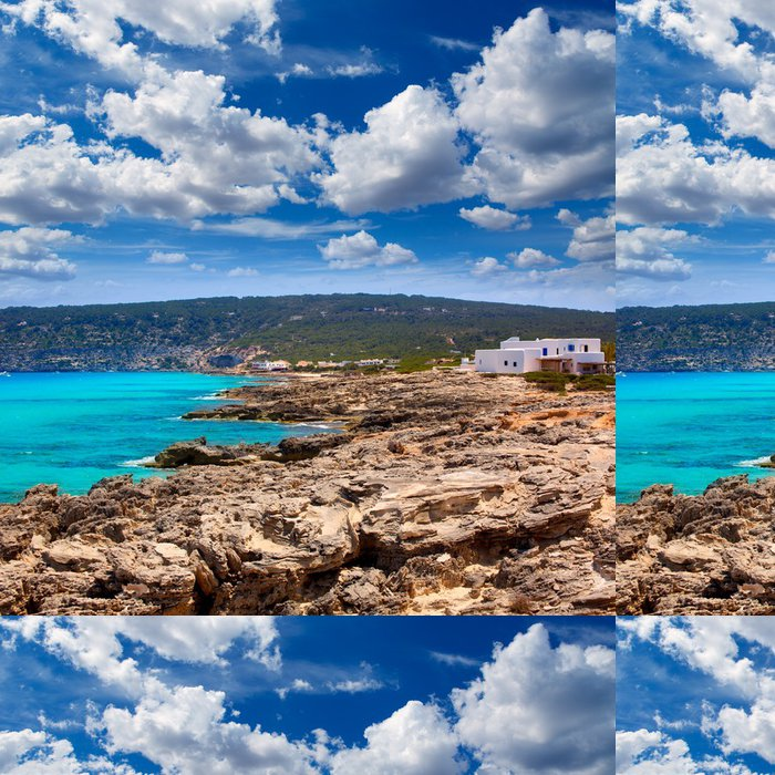 Tapeta Pixerstick Es Calo stupnice Augustine Beach v Formentera - Evropa