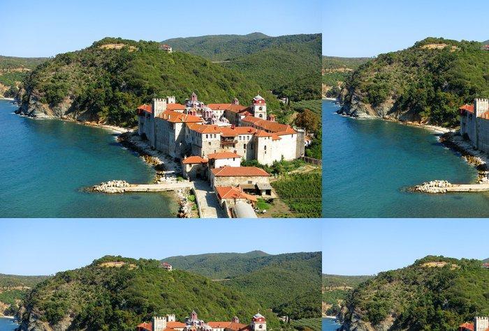 Tapeta Pixerstick Esfigmenou klášter, pohled shora, hoře Athos - Evropa