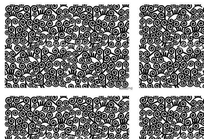 Vinylová Tapeta Estampado espirales monocromo - Obchody