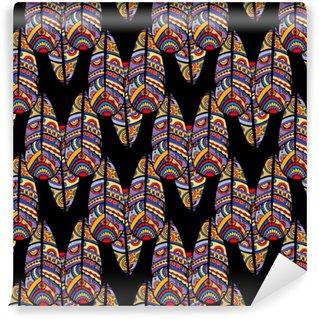Vinylová Tapeta Etnické boho bezproblémové vzorek. tribal art print. barevné pozadí textury okraje. textilie, design látky, tapety, balení.