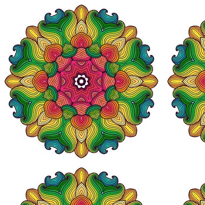 Vinylová Tapeta Etnické kolo ornamentální vzor. - Nálepka na stěny