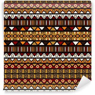Vinylová Tapeta Etnický dekorativní pozadí. Bezešvé vzor pro balicí Pape