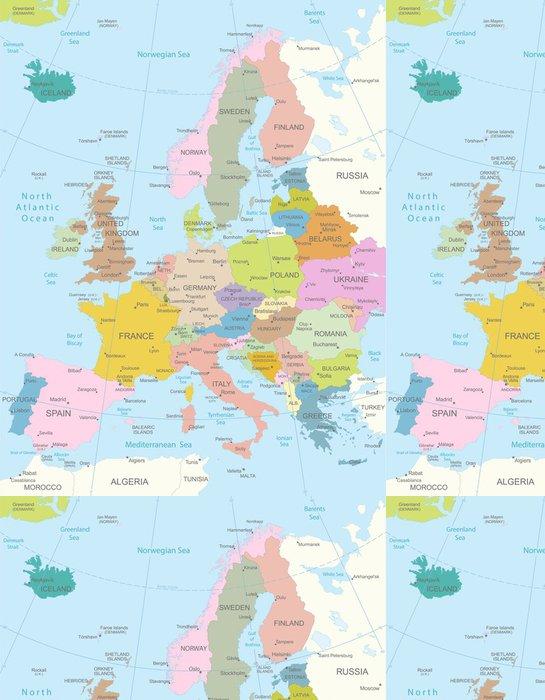 Tapeta Pixerstick Europa-vysoce detailní map.Layers použít. - Témata